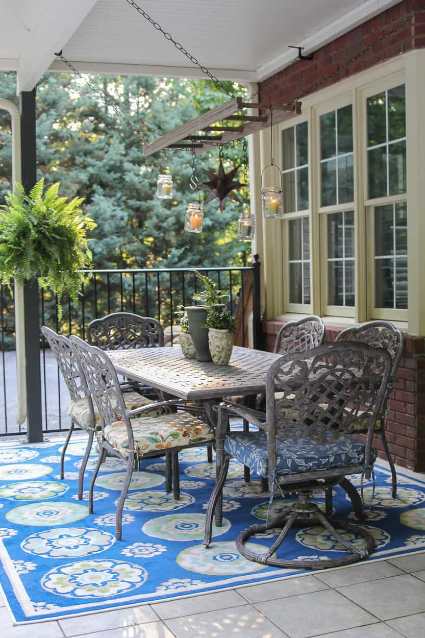 patio rug 10 Ways to Make the Most out of a Small Outdoor Space