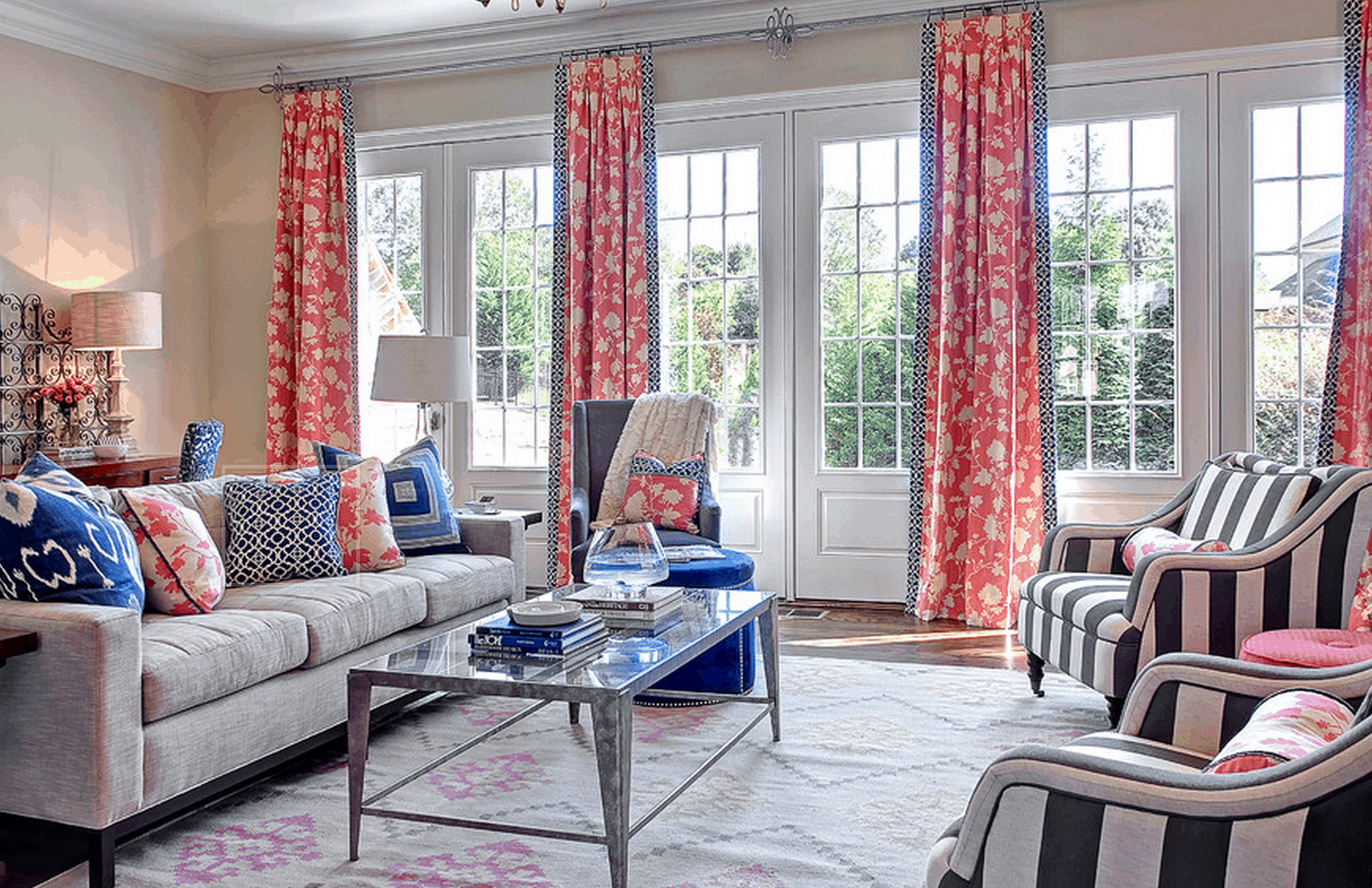 patterned curtains for living room.  Statement Curtains to Upgrade Any Room