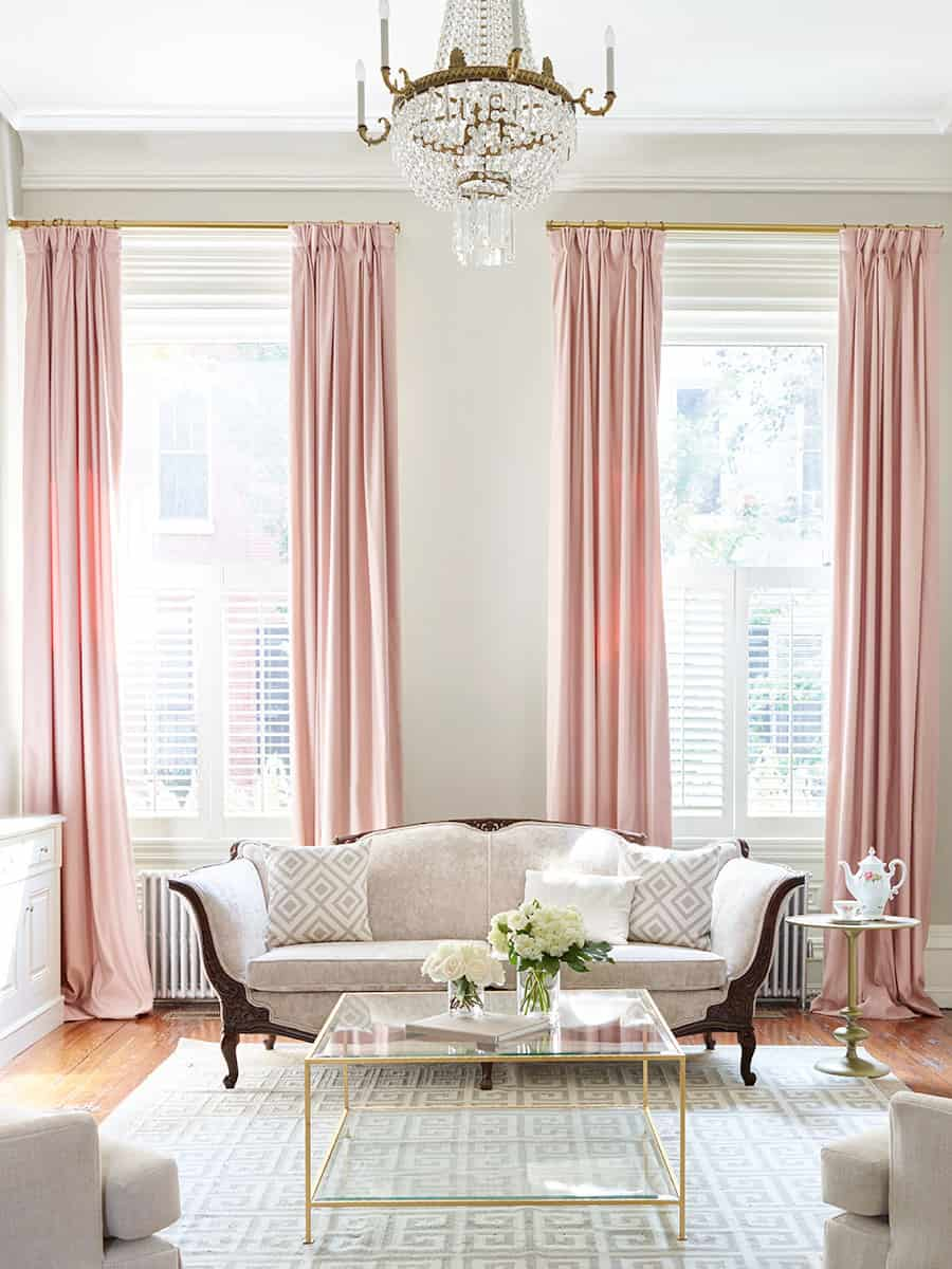 Charming Pink Drapes Anyone?