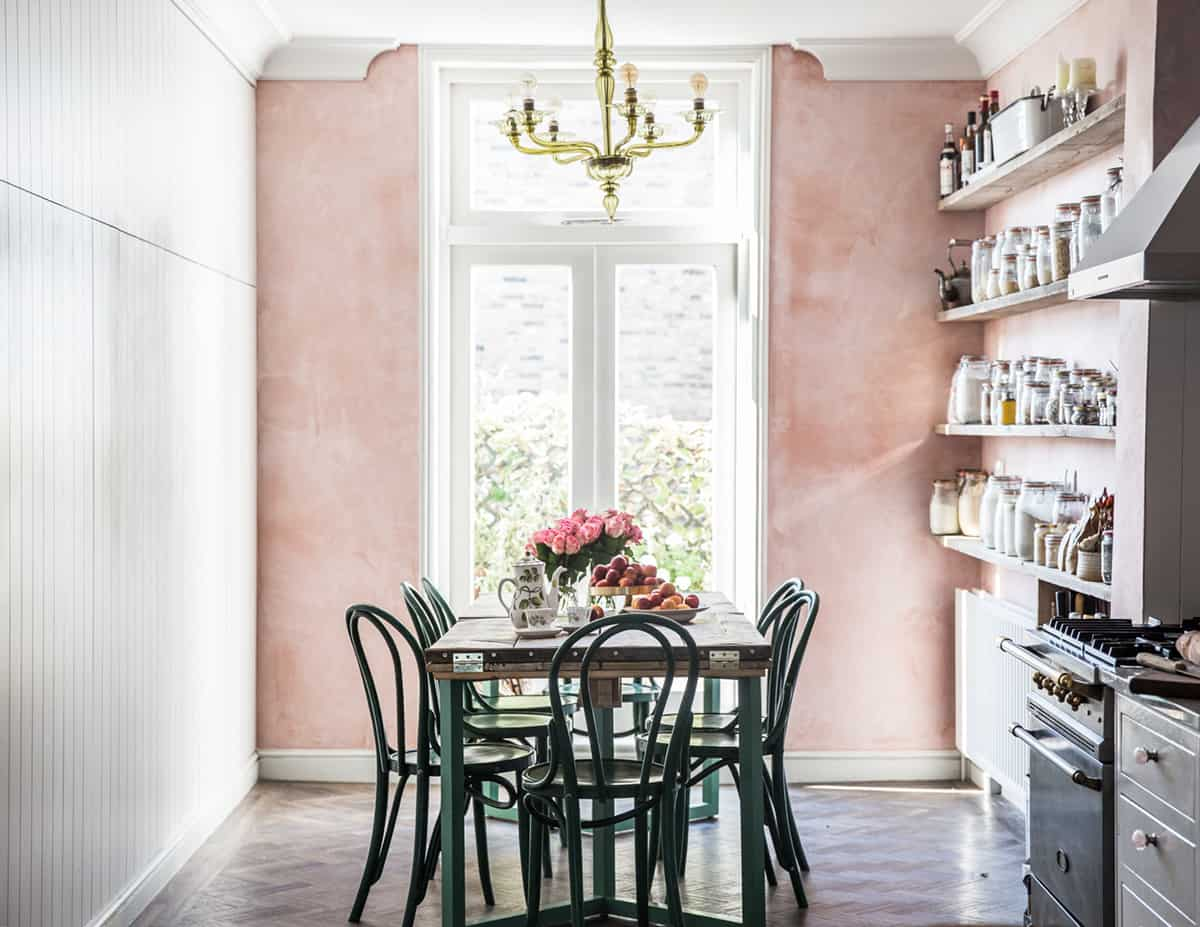 If you are unsure if you want to paint all your walls of a room pink consider painting only one wall of the room pink.