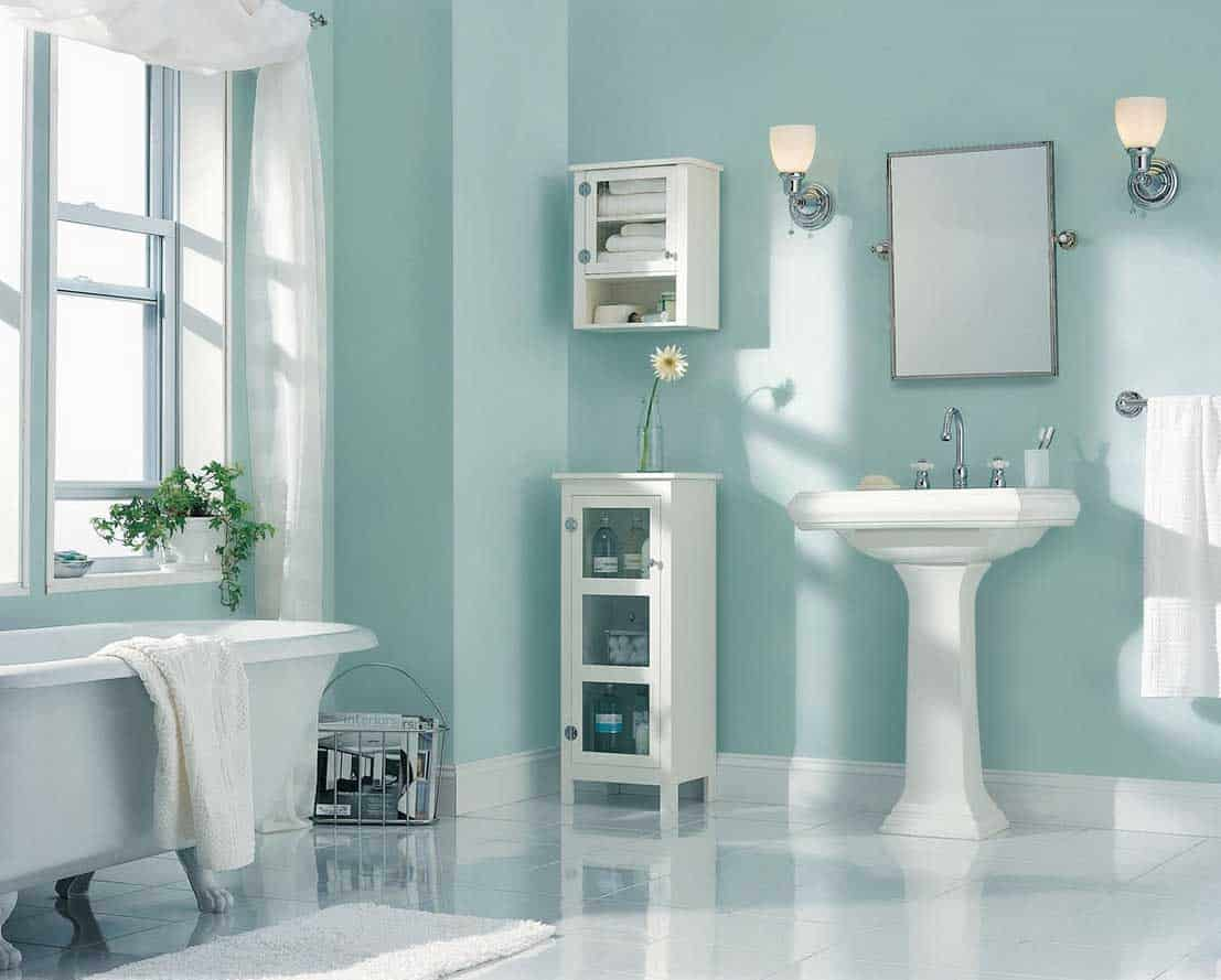There is something about have such a beautiful shade of blue become part of your bathroom space. You will feel as if you have been transferred to the most peaceful hotel.
