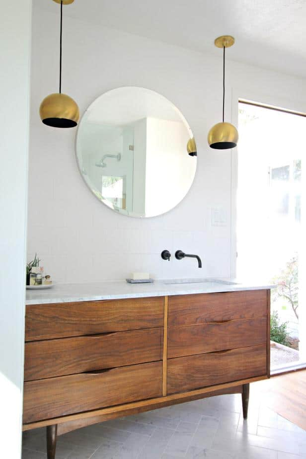 retro modern bathroom vanity