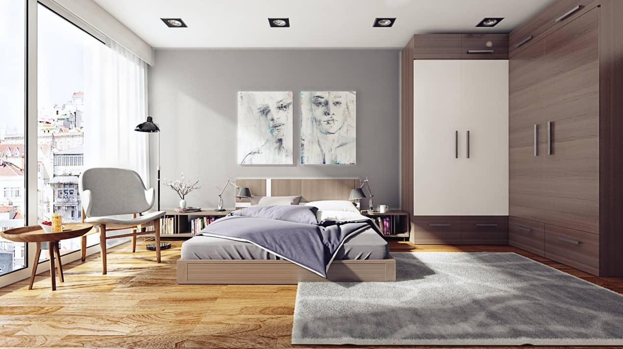 simple-bedroom-design modern and spacious