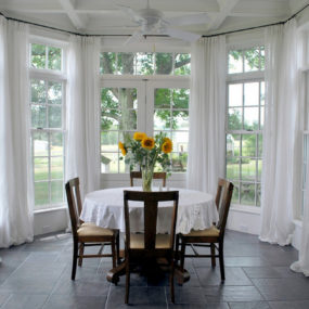 Sunrooms are notorious for having large windows.