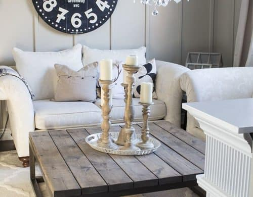 wooden country coffee table