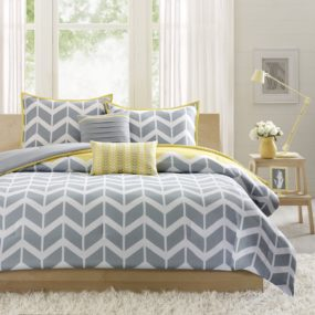 yellow and gray bedroom 285x285 Have Your Guest Feel Right at Home with These Guest Room Design Concepts
