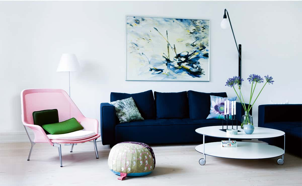 Blue sofas are powerful statement pieces to have in a living room.