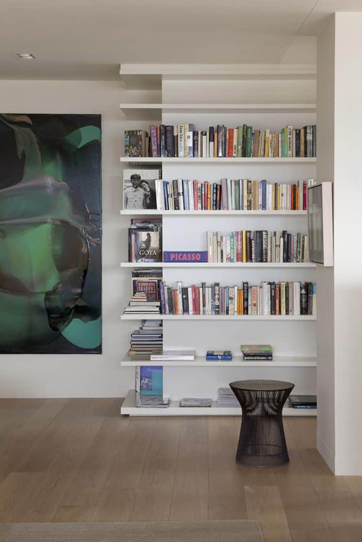 A built-in bookcase adds character to any room it is placed in especially if it is in a corner space.