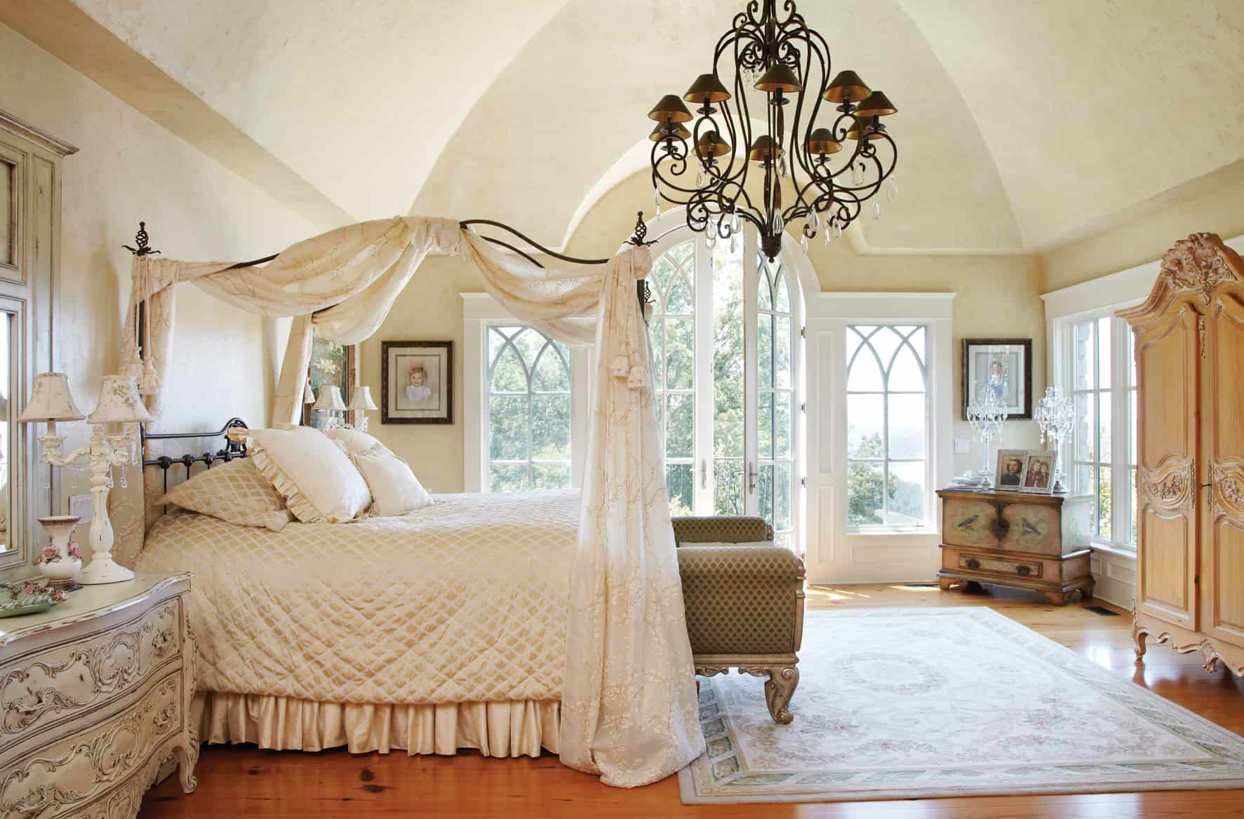 There is something very regal about a canopy bed.