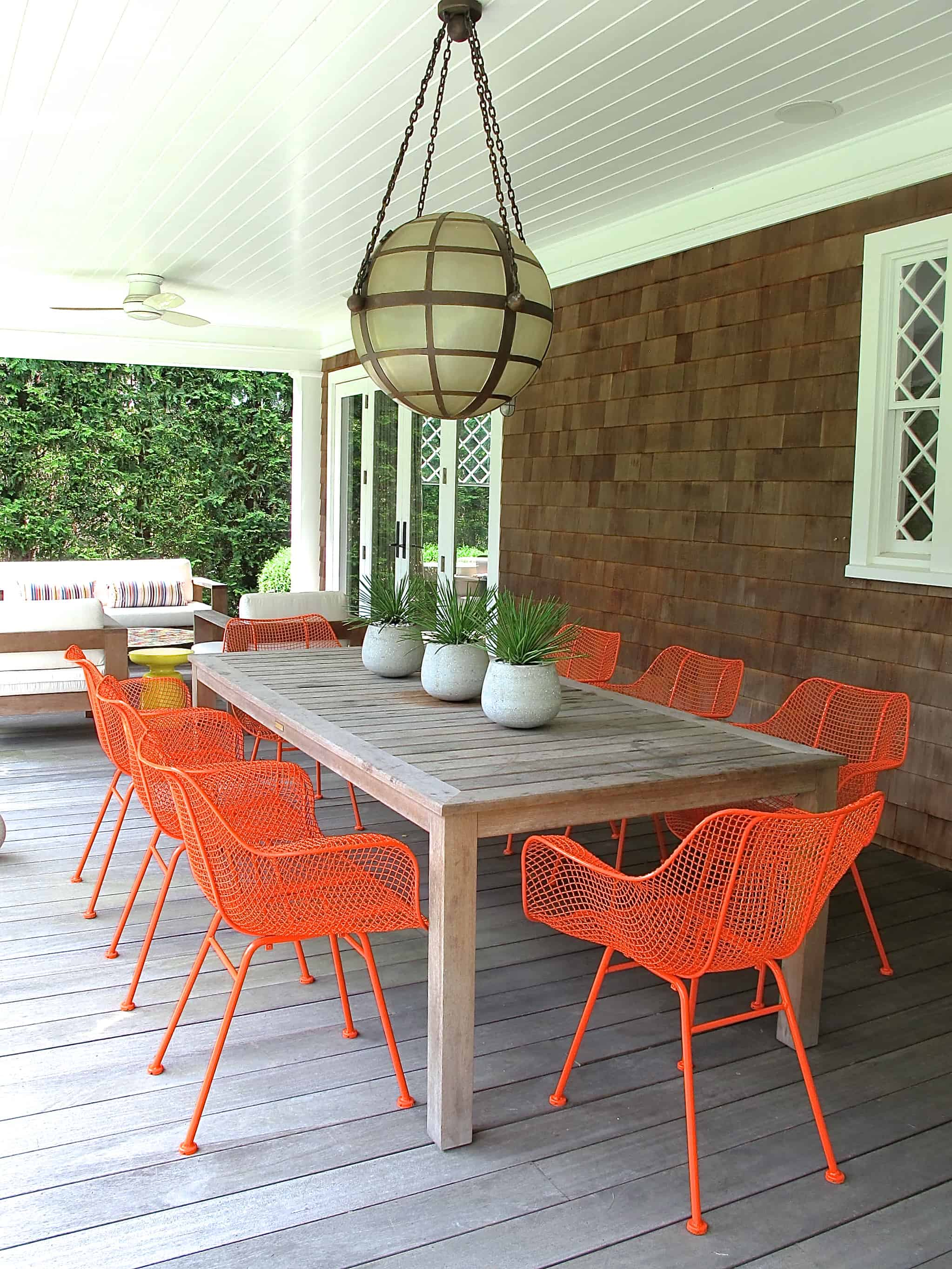 Pops of color are great to add on the outside and inside of your home.