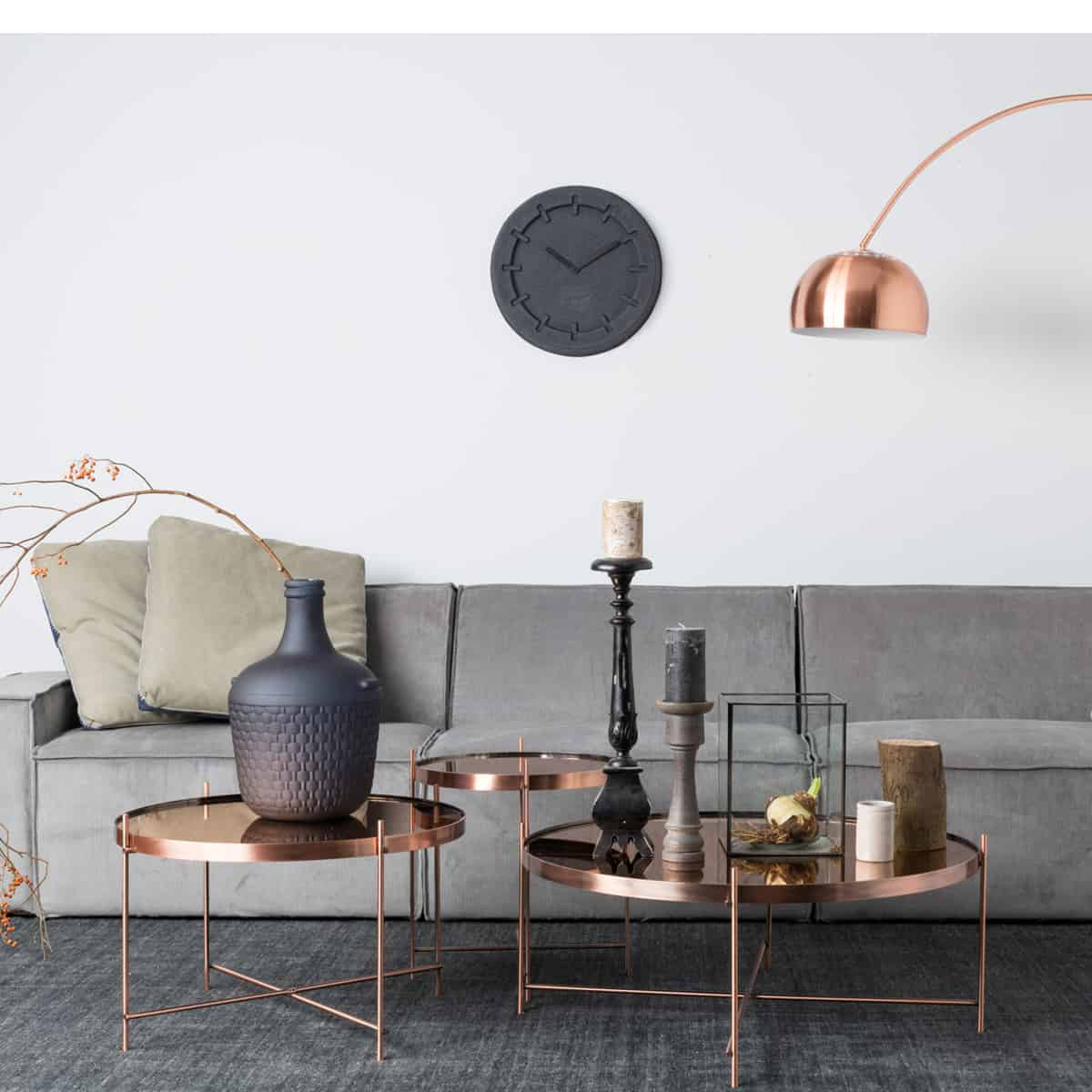 View in gallery Copper coffee tables ...