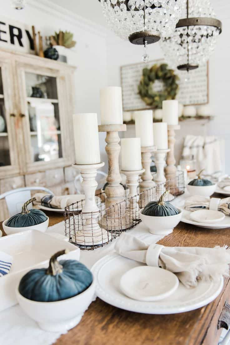 View In Gallery Fall Table Decor 10 Different Ways To Set A Friendly Blue