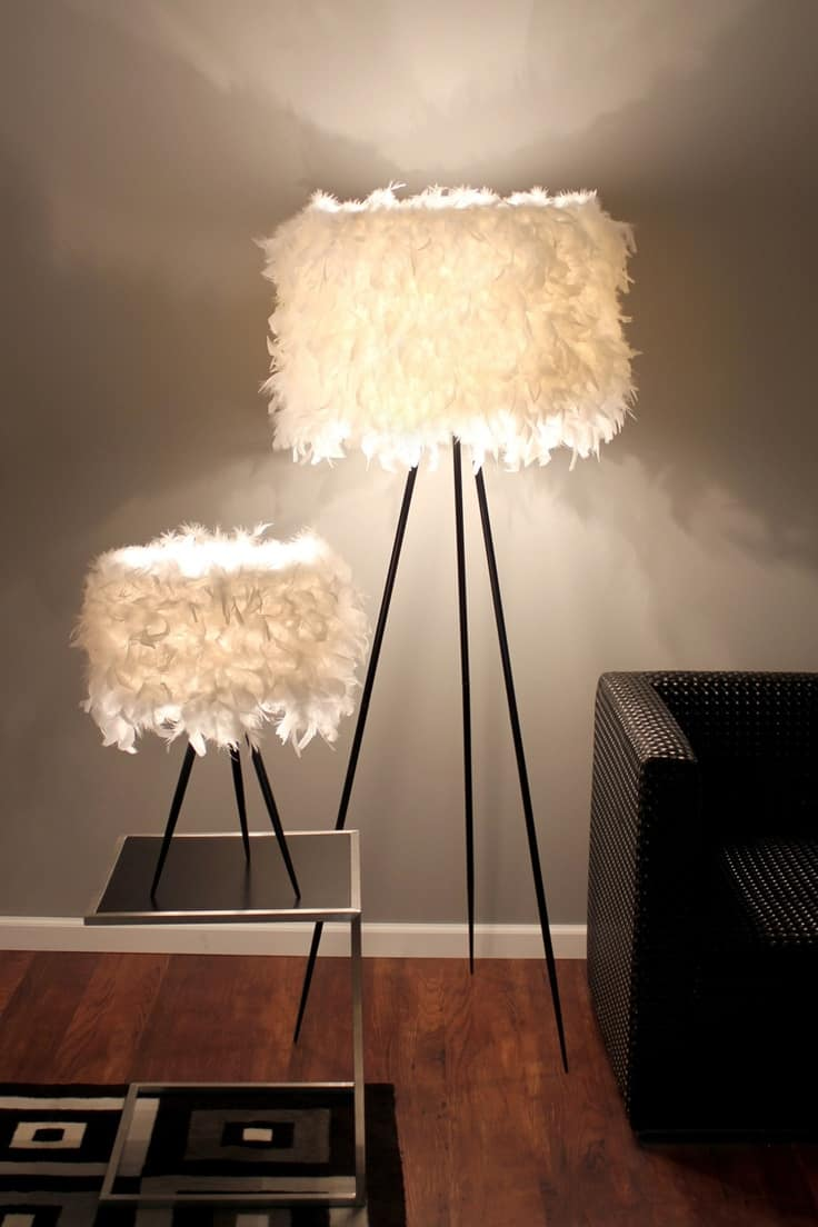 Simple Furry Table Lamps