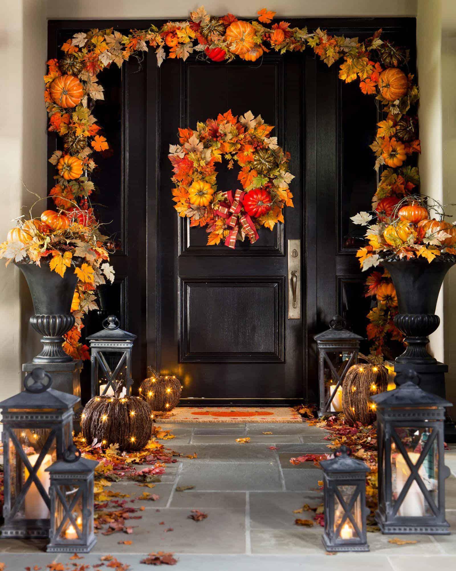 10 Fall Door DéCor Options That Aren't Wreaths