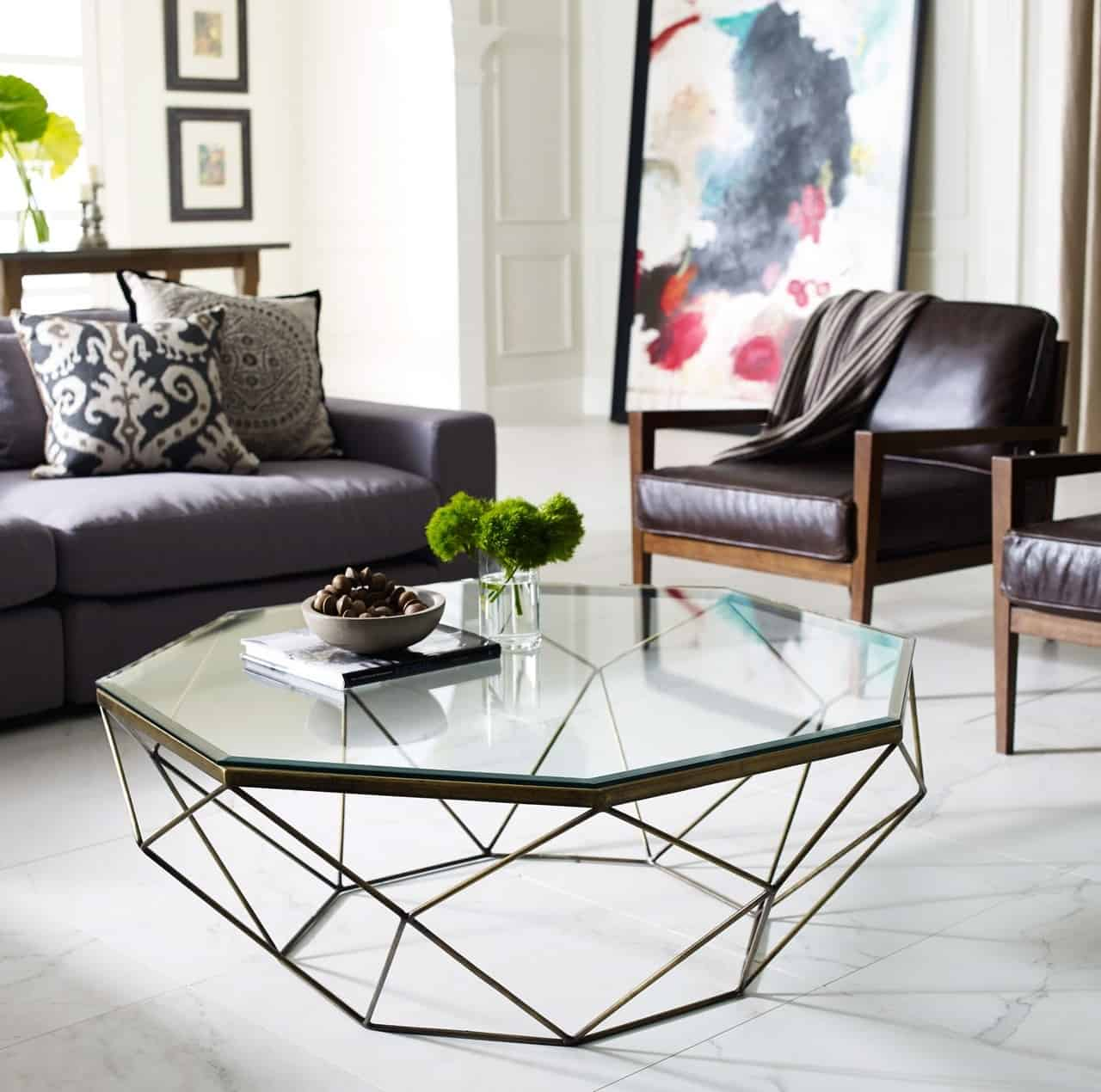 Modern coffee table trends for 2018 for Glass living room furniture