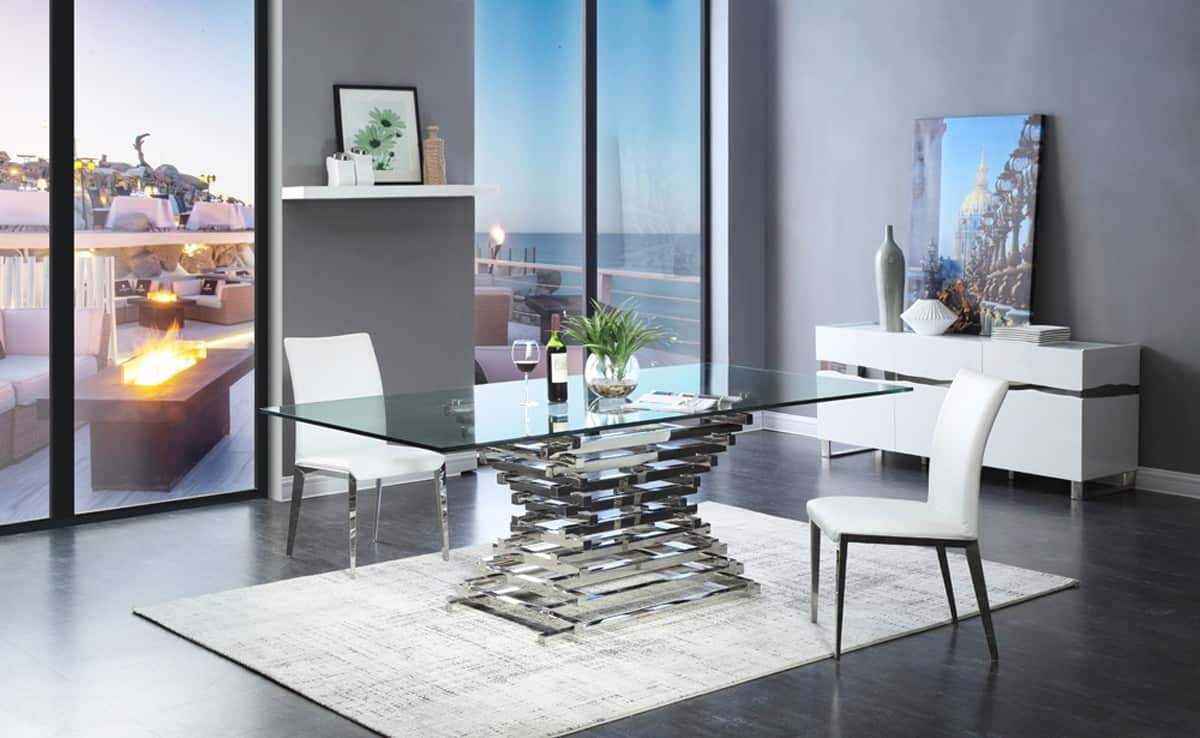 modern dining room tables. Glass Galore Modern Dining Room Tables That Are On Trend