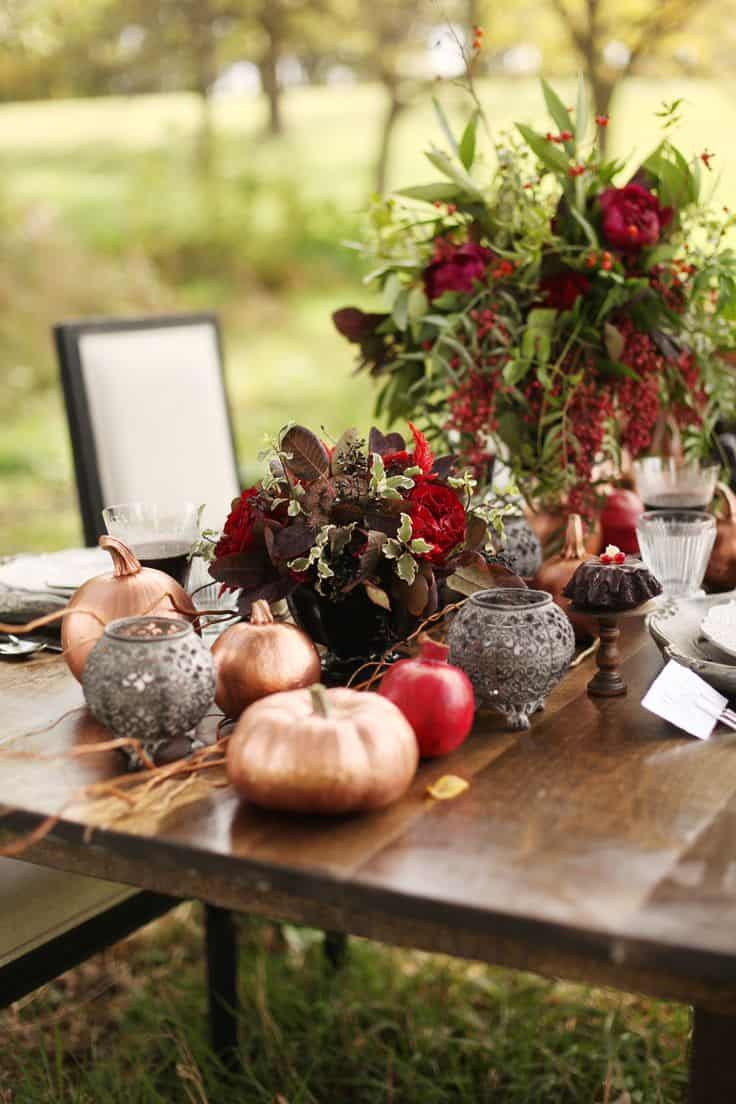 Dark tones work very well for fall decor