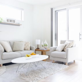 Keeping it light does not mean the entire living room need to be white.