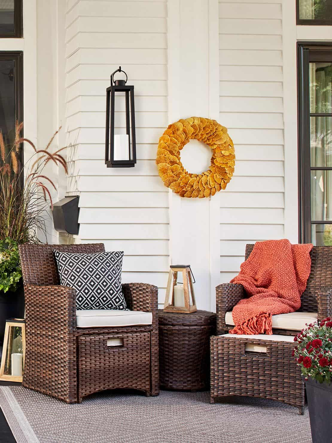 Take indoor items and bring them outdoors for a cozy outdoor upgrade.