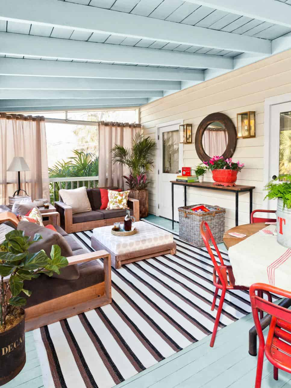 painted deck 10 Ways to Spruce Your Outdoor Space With Paint