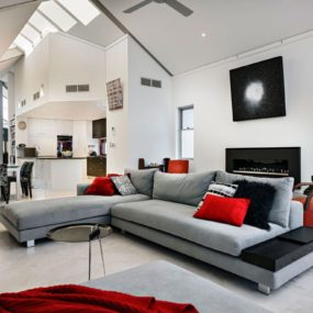 red accents 285x285 Turning Your Living Room Into The Ultimate Modern Space
