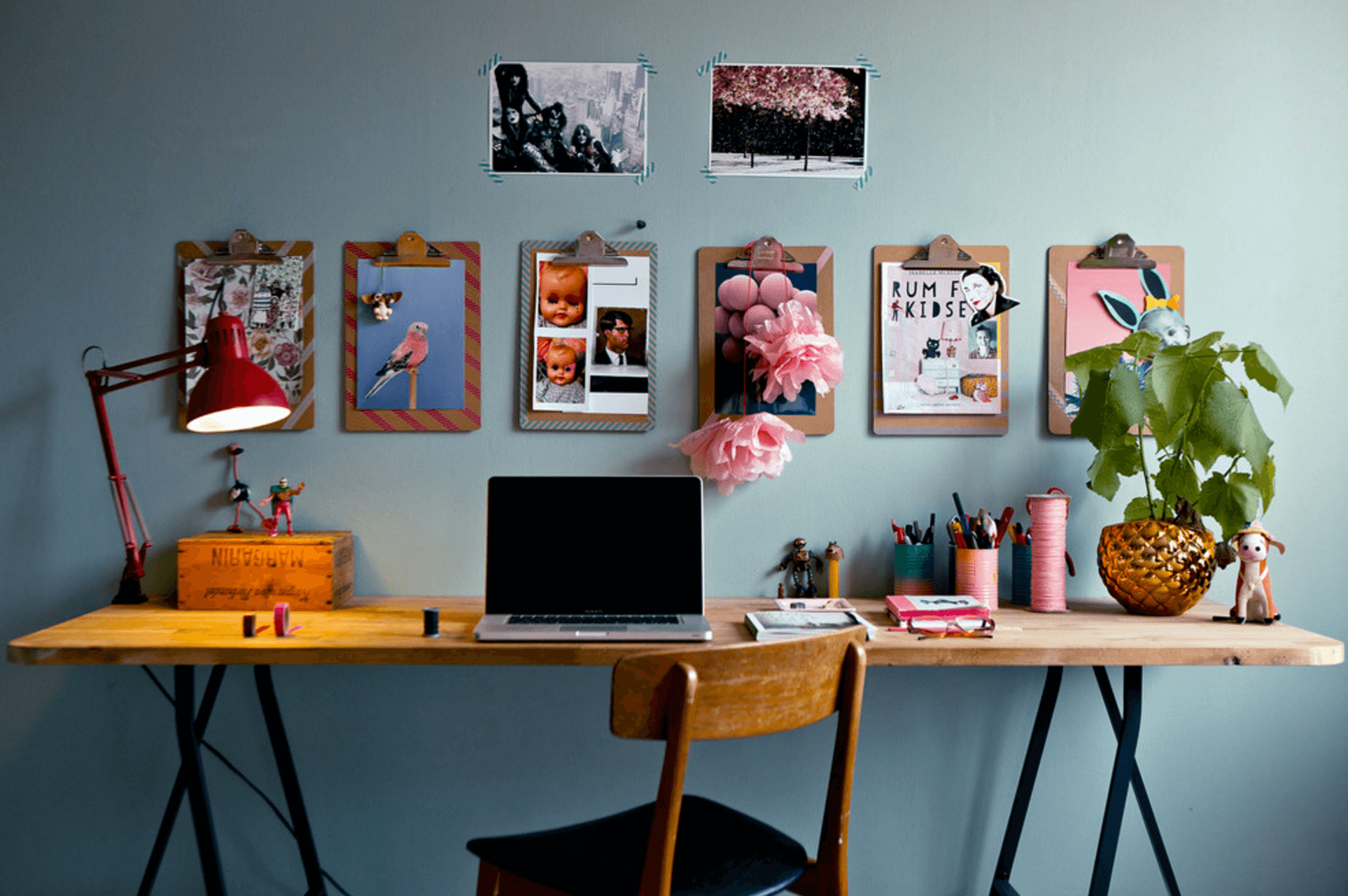 Fill your workspace with as many images as possible to create a wall of art that speaks to you