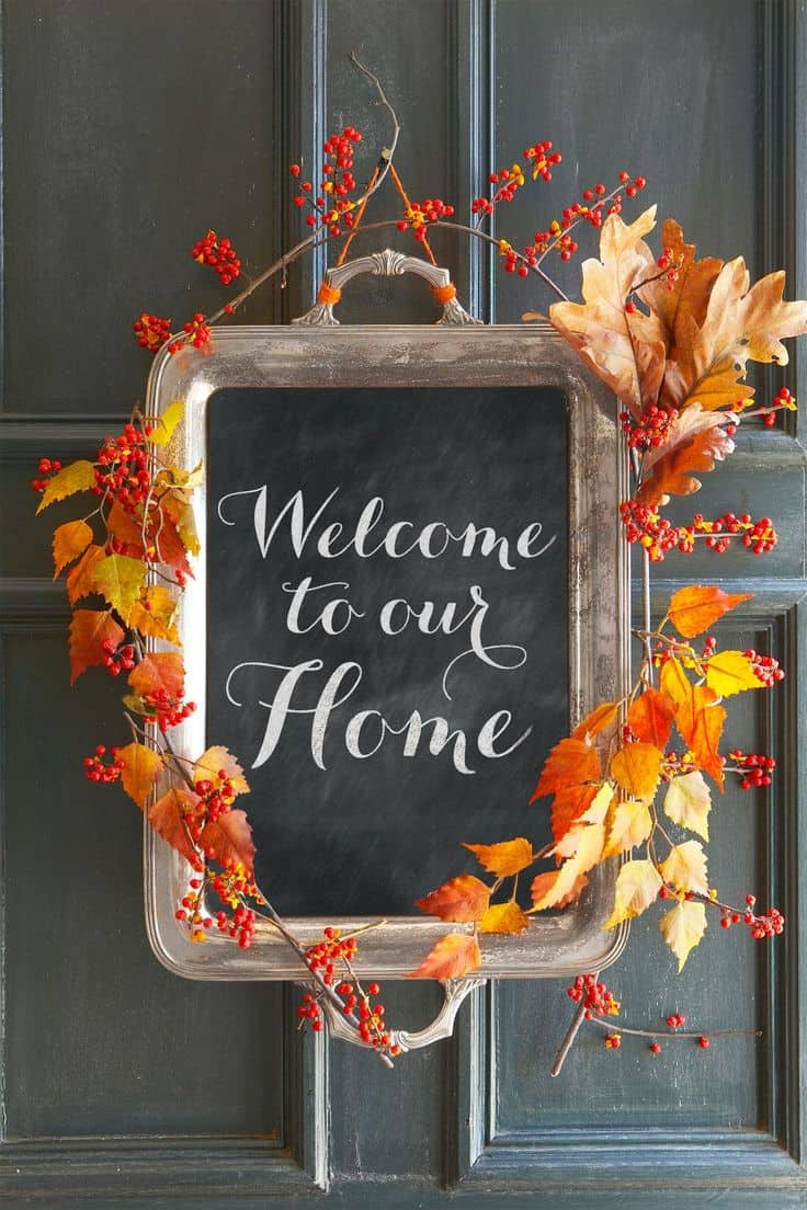 Add a few fall pieces to truly make your sign feel part of your fall decor.