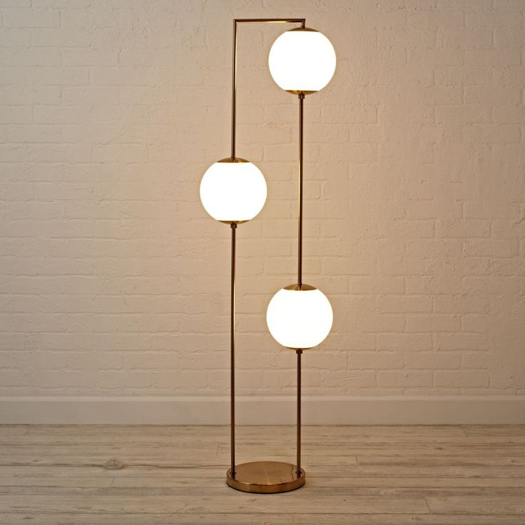 3 bulb geo floor lamp 15 Unique Floor Lamps To Round Out Your Homes Lighting