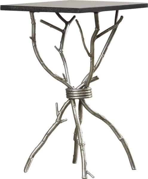own end table silver branches