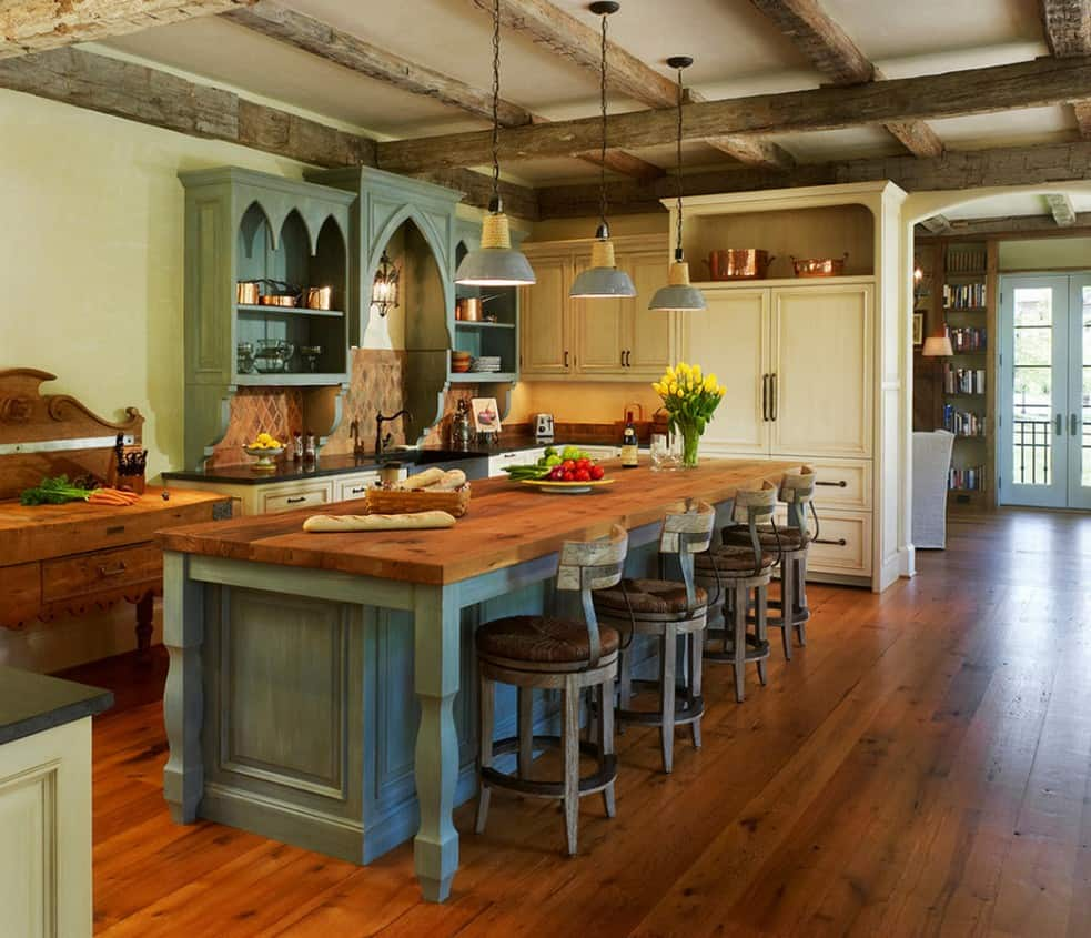 There is something warm and welcoming about having a rustic feature in the kitchen