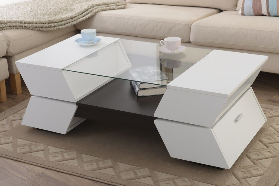 Popular View in gallery All Modern gave us a glass coffee table