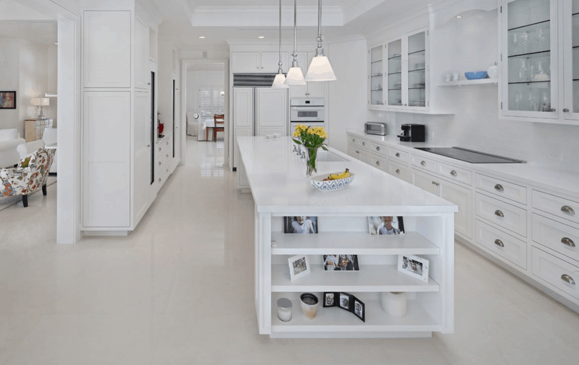 Adding color to an all white kitchen without disrupting your décor