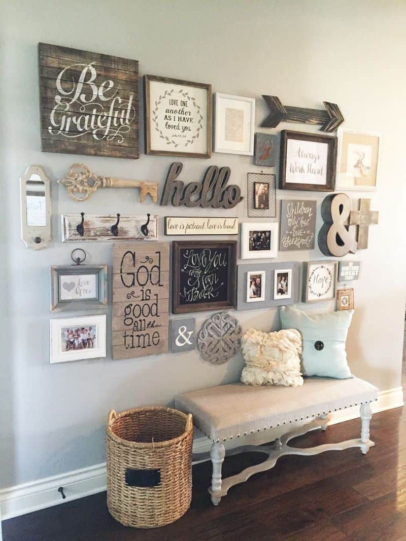 barn house gallery wall Farmhouse Style Trends You Need in Your Home