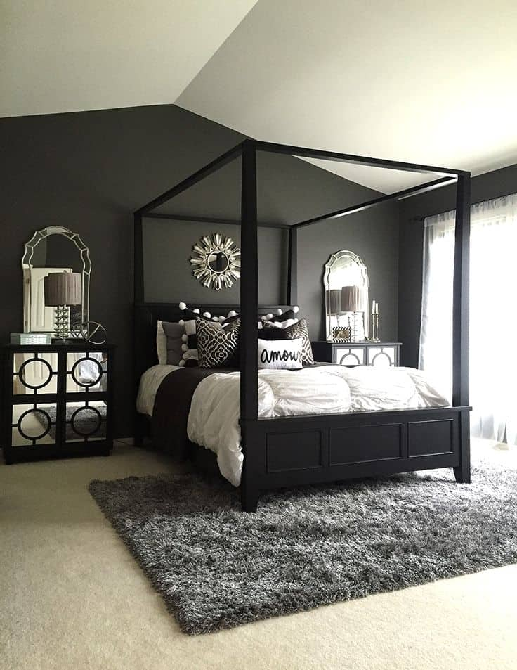 These 15 Black Bedrooms Will Add Just The Right Amount Of