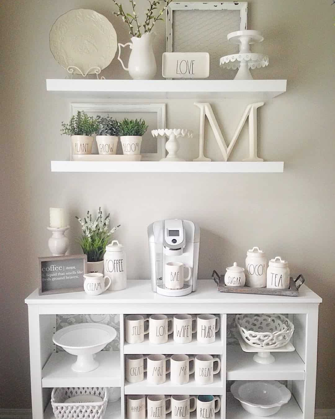 When you DIY your coffee mug rack you have the ability to create the perfect space for you.