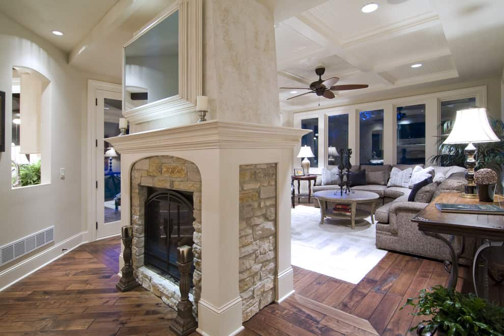 double-sided-fireplace-Family-Room
