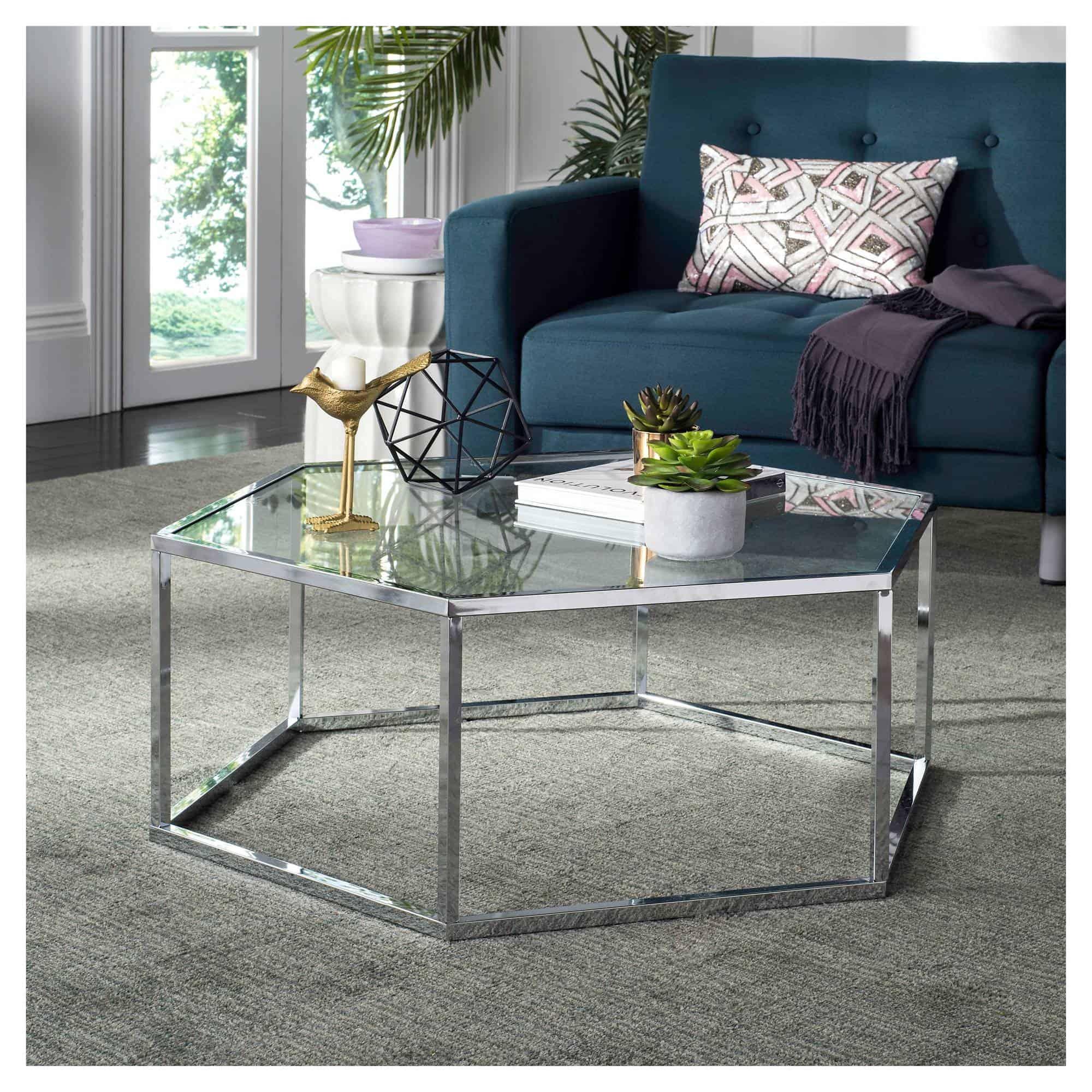eliana glass coffee table