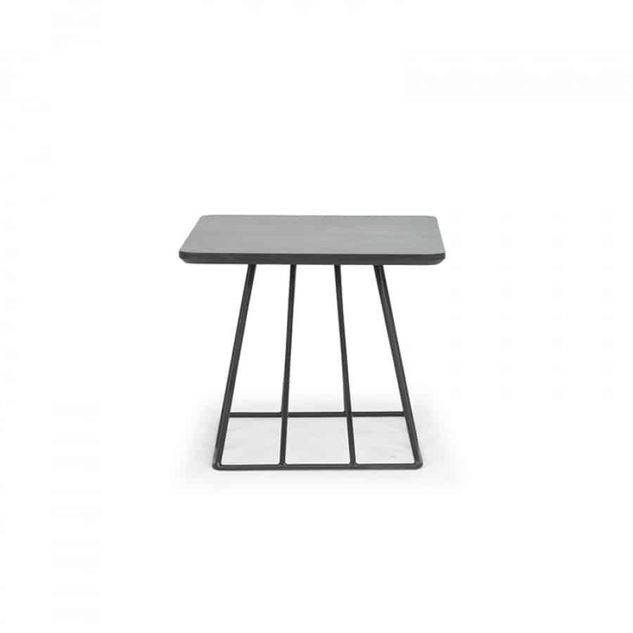 enclave square side table matte black