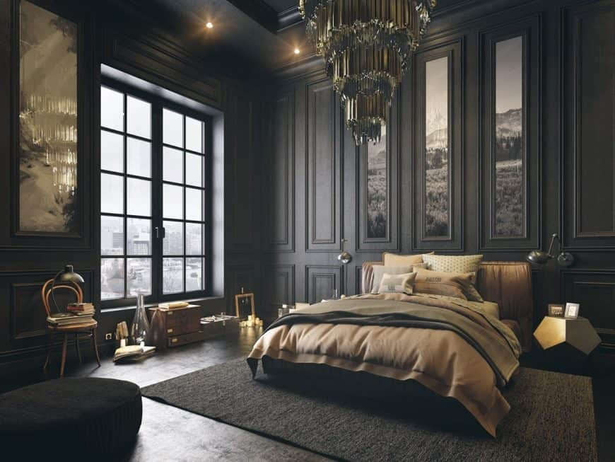 These 48 Black Bedrooms Will Add Just The Right Amount Of Mystery To Mesmerizing Black Bedroom