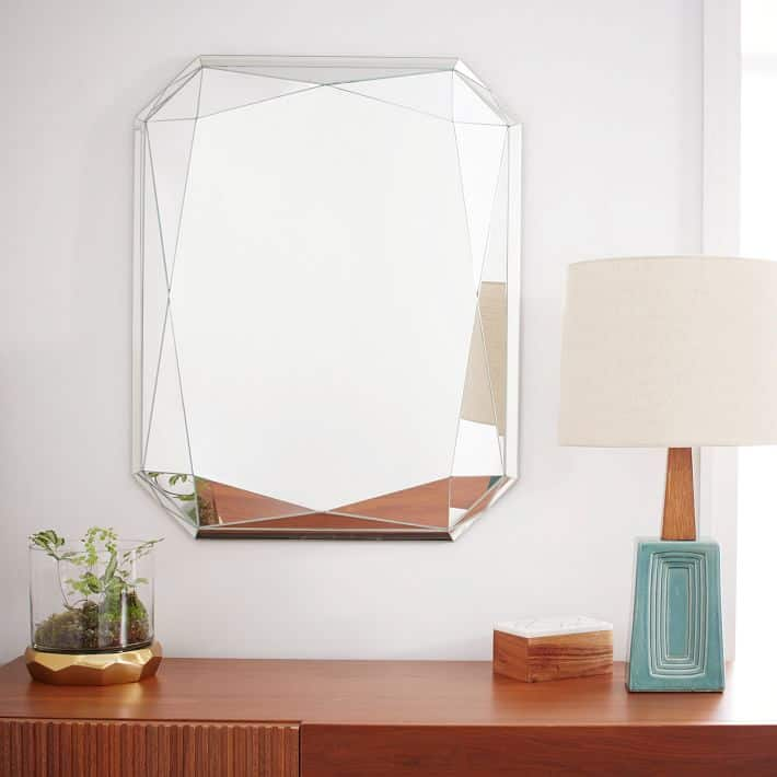 faceted mirror emerald cut These 15 Bathroom Mirrors Will Transform Your Morning Routine
