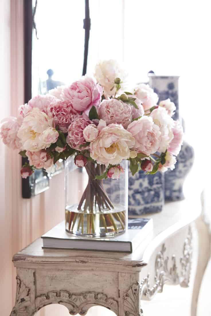 fresh flower console