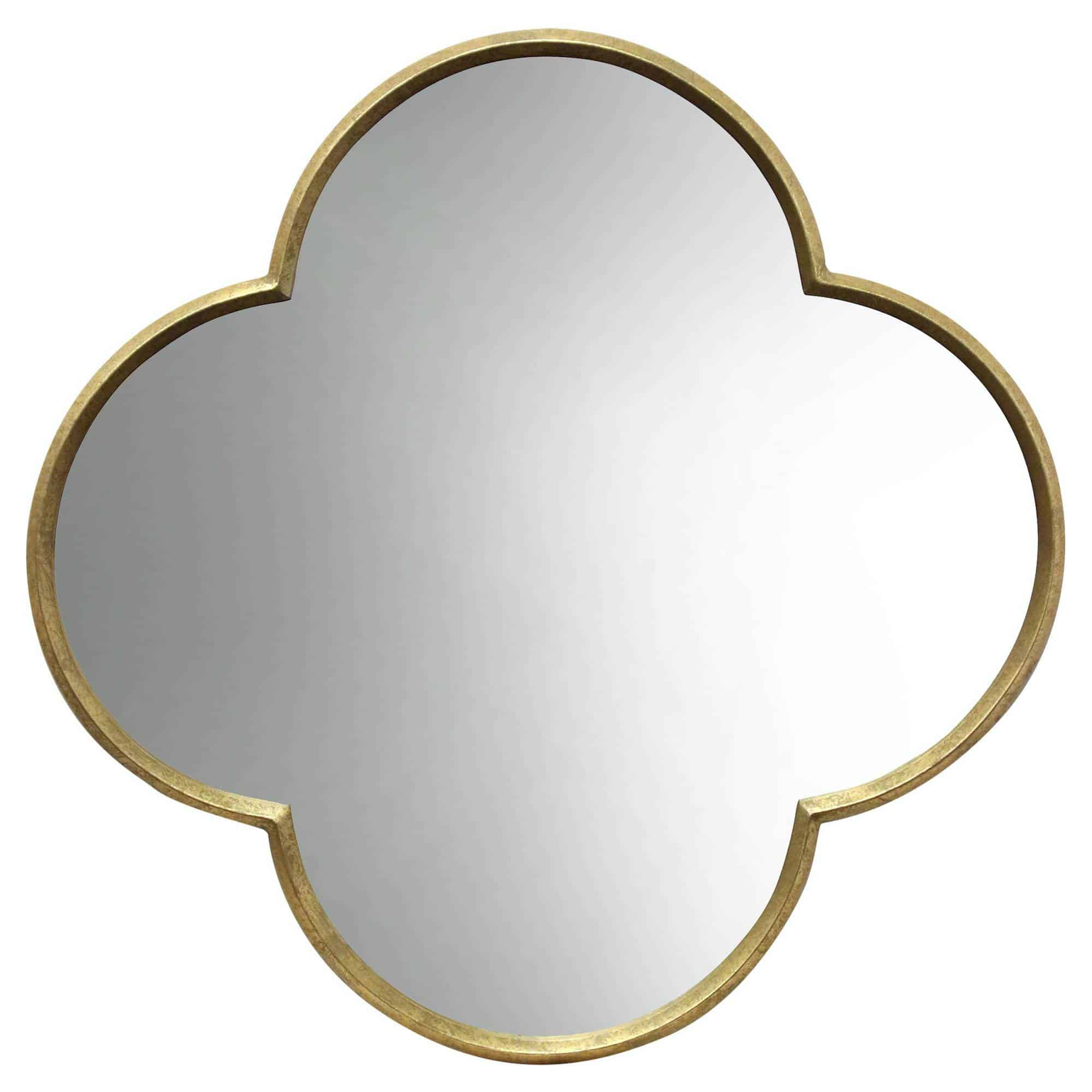 gold finish wall mirror
