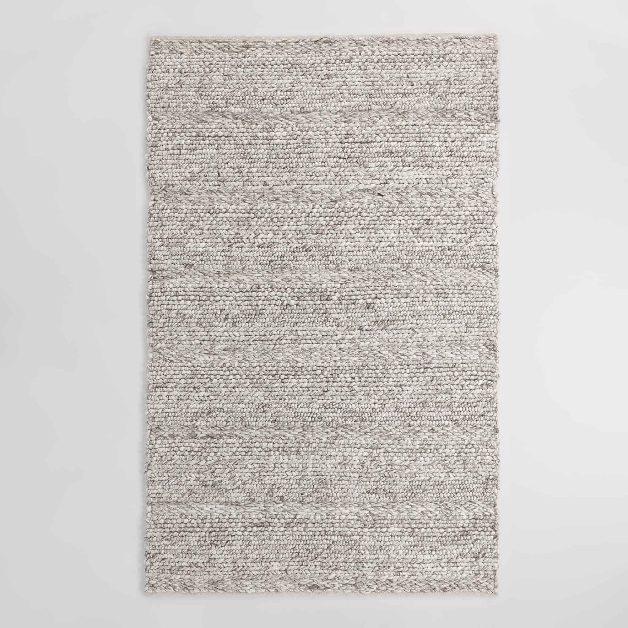 gray wool rug Kitchen Statement Rugs That Add Texture