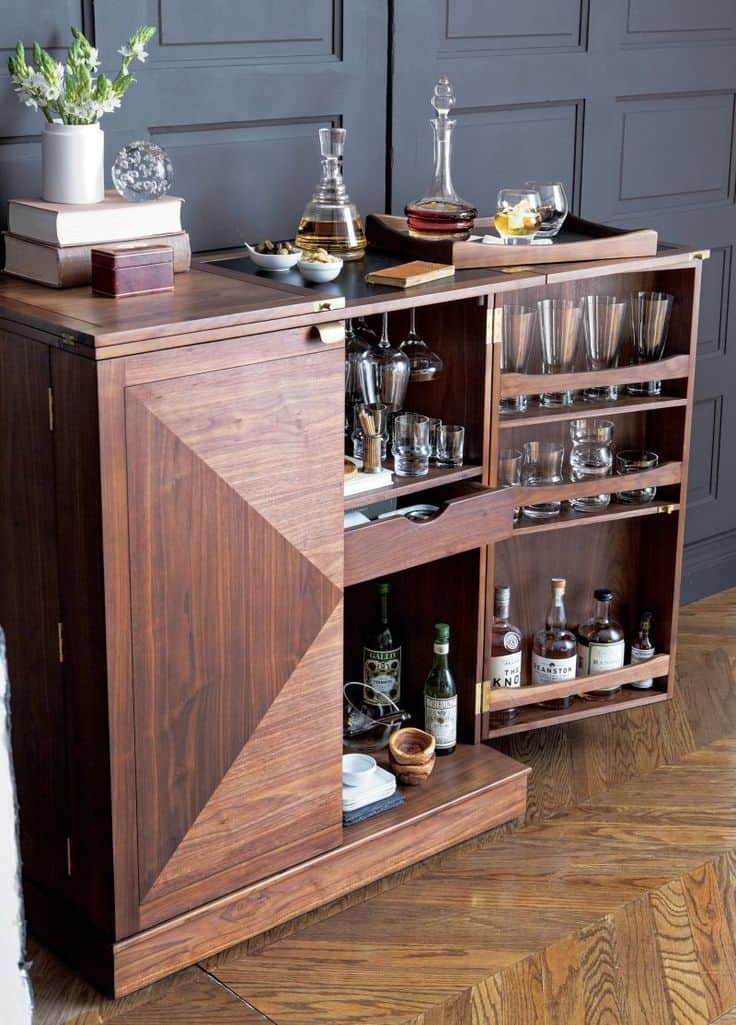 maxine bar cabinet 1 15 Bar Cabinets That Will Have You Planning Dinner Parties By The Weekend