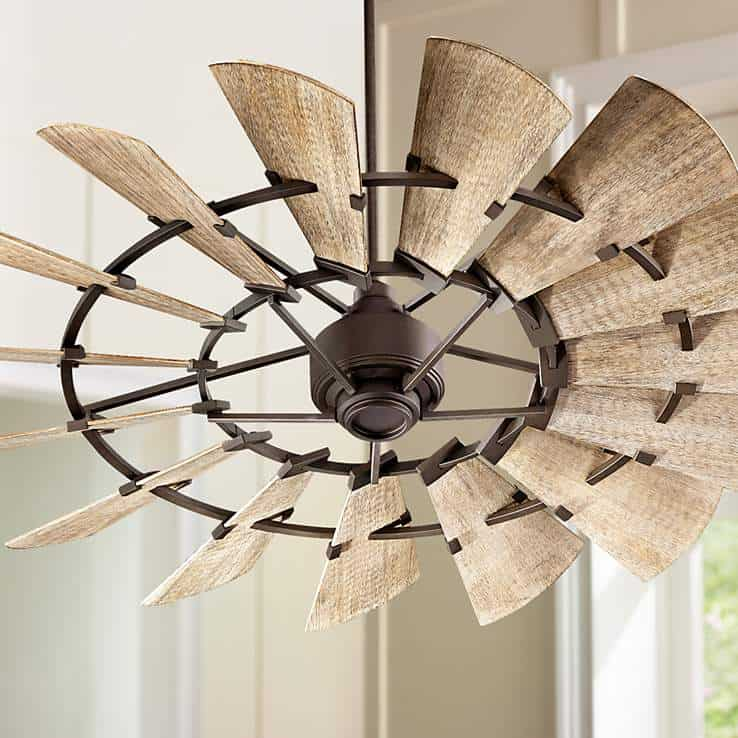 oiled bronze ceiling fan 1 15 Unique Ceilings Fans That Are Both Functional & Stylish