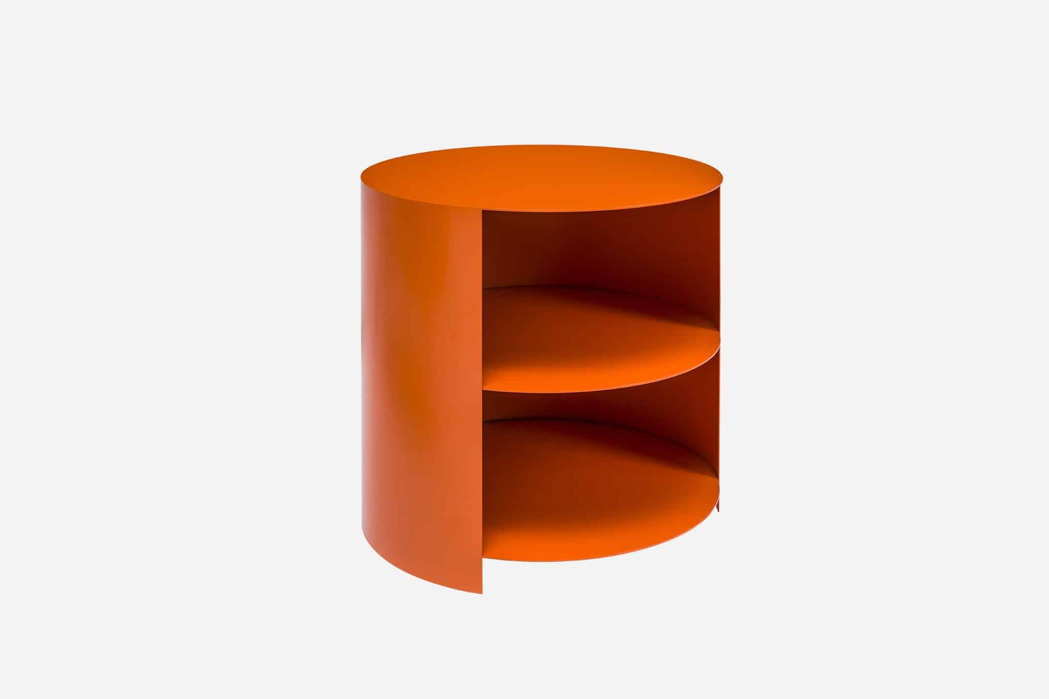 orange storage side table