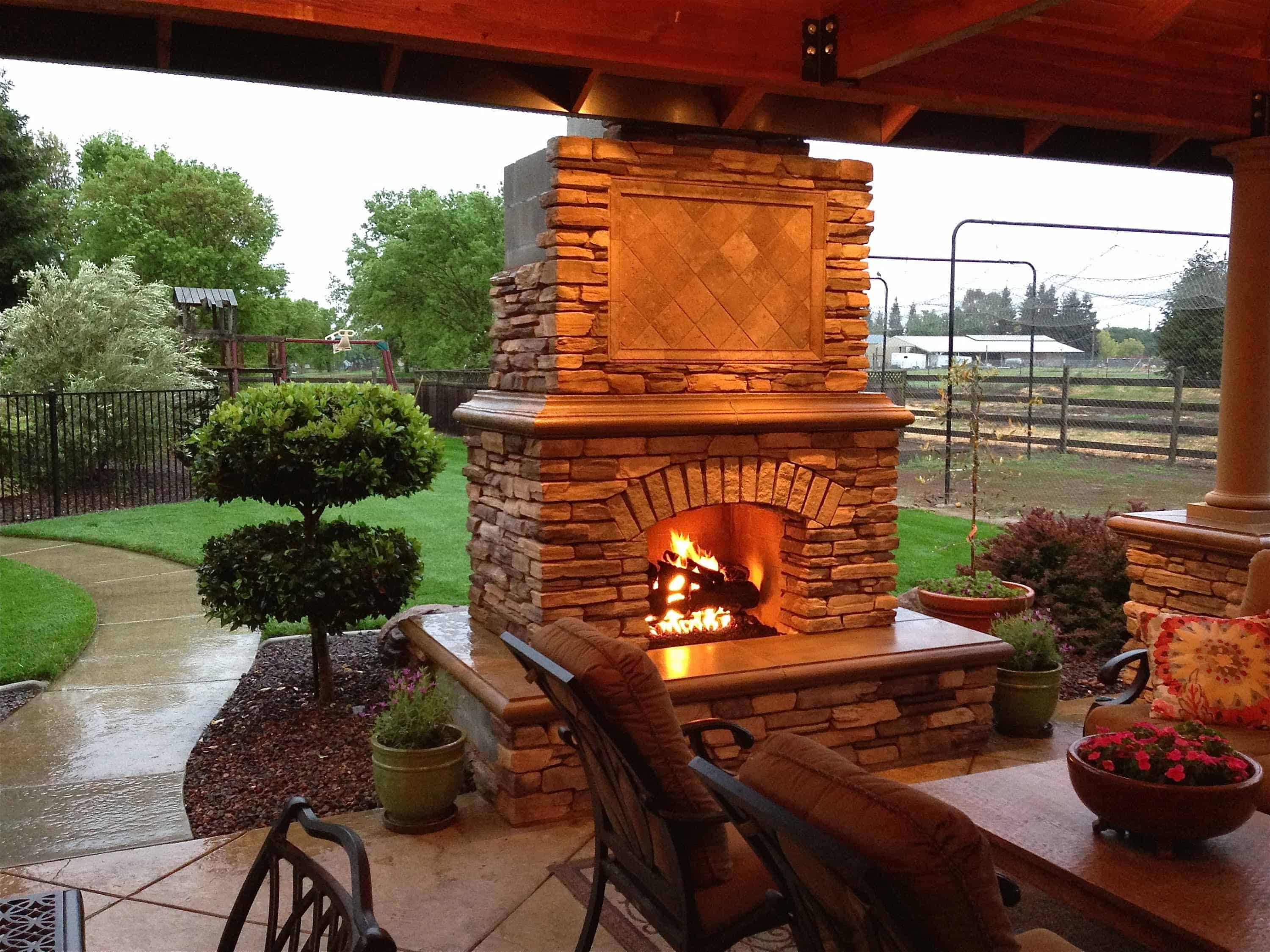 The beauty of an outdoor fireplace is that it brings warmth to the entire outdoor space.