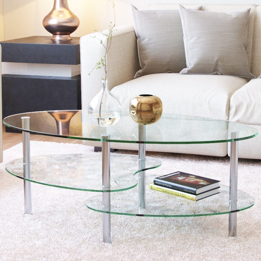 Glass Coffee Tables To Display In Your Formal Living Room - Pottery barn colette coffee table