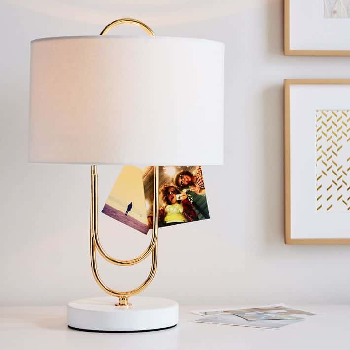paper clip table lamp 15 Super Cool Lamps That Will Amp Up Your Side Table Style