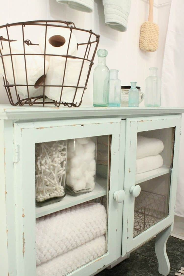 A linen cabinet is great especially when you use it in the bathroom.